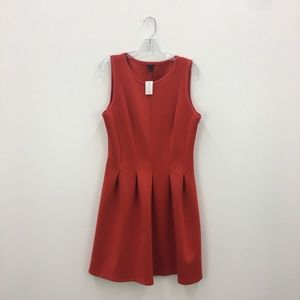 NWT Ann Taylor Red Pleated A-Line Dress